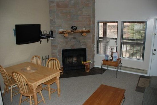 Main Floor - Living room with fireplace