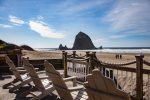 The proximity to Haystack Rock makes this a coveted Cannon Beach location