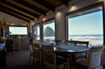 Up close view of Haystack Rock from the dining room table