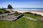 Private yard and easy beach access