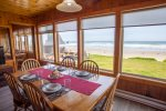 Oceanfront view from the dining table