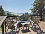 Wrap Around Deck on Top Floor w/ a Spectacular Ocean View and Hot Tub behind these Chairs