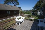 Cozy deck with ocean view and comfortable seating