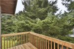 Deck off of upstairs master bedroom