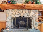 Wood fireplace