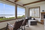Beautiful views of the Pacific are framed in the living room windows