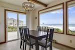 Dining room has full ocean view