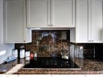 Beautiful granite counters in kitchen