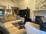 Living Room with Gas Fireplace and Large Flat Screen