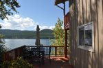 Newly updated open living space with dinning area and views of the lake