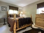 Third bedroom has a queen bed and a double/twin bunk bed