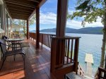 Enjoy your days and evenings of the deck overlooking the water