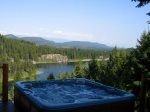 Stunning views of Bootjack Lake from the hot tub