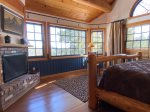 The upstairs Master Bedroom has a king bed and fantastic views our the large windows