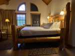 Master bath has large jetted tub to enjoy after a day of adventures
