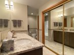Full and spacious master bath
