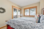 Master Bedroom with King Bed, Full Bath, Balcony Access and Slope Views