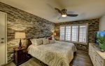 Master Suite with Beautiful Stone Walls