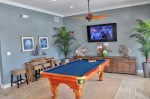 Inside Clubhouse Pool Table