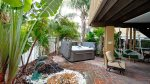 Shared back yard area, enjoy a sit in this relaxing space.