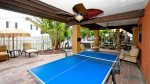 Shared back yard area, play a little ping pong when you are not at the beach.