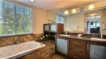 Master ensuite, Jacuzzi tub and double sinks