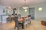 Open floor plan with marina view