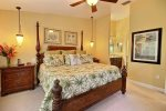 Second floor master bedroom with king size bed