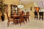 Second floor formal dining table
