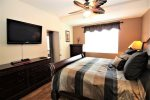 King master bedroom suite with TV