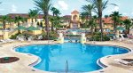 Beautiful resort pool with lazy river and waterslide