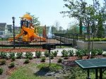 Playgrounds and BBQ areas