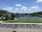 Basketball, tennis and sand volleyball courts