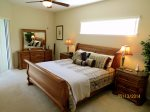 King master bedroom with TV, full ensuite and pool access