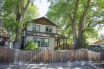 Fenced yard, front and back, pet friendly, sleeps 10