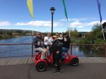 Cycle pub with family and friends in Bend, Oregon