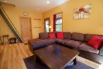 Cozy up to the gas fireplace in the living room