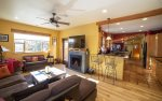 Fully equipped kitchen with gas range with four burners