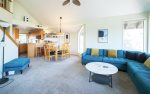 Fully equipped kitchen w granite slab countertops