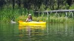 Kayak and paddle board at Bend, Oregon`s many lakes and rivers