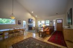 Fully equipped gourmet kitchen with granite slab counter tops