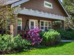 Covered front porch chairs and swing