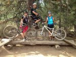 Friends enjoy riding together in Bend, Oregon on our endless mountain biking trails