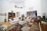 Open bright social living Room, pet friendly, air conditioning