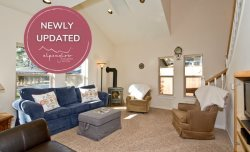 Downtown Pet Friendly Bend Oregon Vacation Rental on Hartford Avenue, sleeps 10 Fenced Yard!