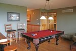 Pool Room located on middle floor