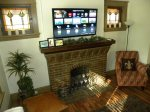 4k tv and working fire place
