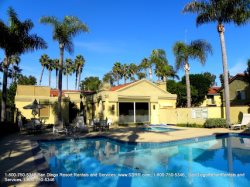 Enjoy San Diego sunshine in the pool or jacuzzi