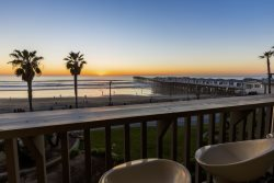 Enjoy meals and laughs on the ocean front balcony