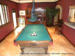 View of the pool table room